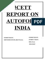 3cett Report on Autoform India