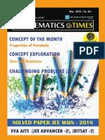 Mathematics Times - May 2018