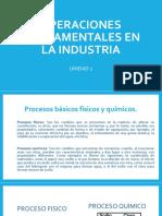 Operaciones Fundamentales en La Industria