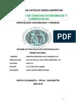 Informe 01 Practicas II