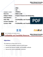 PF&B_Unit 7_Profitability and Feasibility Measures_PPT.ppt