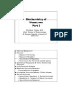Biochemistry of HormonesI