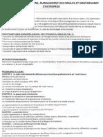 UE 1.3 – Contrôle interne, management des risques et gouvernance d'entreprise