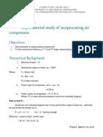 Experimental Study of Reciprocation Compression.