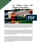Situs Poker Online Uang Asli Bonus Berlimpah Tiada Batas1
