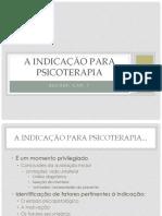 A Indicação Para Psicoterapia