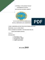 Entornos de Los Ngcios Internacionales