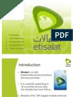 Marketing Presentation on Etisalat