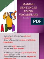Making Sentences Using Vocabulary