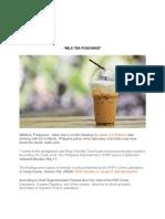 milk tea poisoning case study.