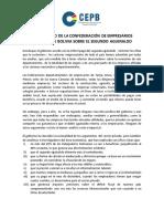 Comunicado sobre el doble aguinaldo de la Confederación de Empresarios Privados de Bolivia