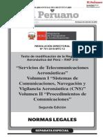 RAP 130 Servicios de Telecomunicaciones Aeronauticas