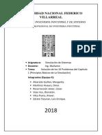 Solución de Los 10 Problemas Del Capítulo 1 (Principios Básicos de La Simulación)