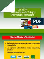Unidad 1. Ley 16.744 Seguro de Accidentes y Enfermedades Profesionales