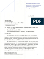 US Submission to Inter-American Commission on Human Rights
