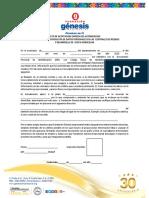 Autorización Para Verificación de Buros de Crédito y Visita Domiciliar 2018