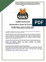 Censo SUAS 2018 Centro Convivencia