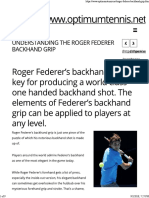 Roger Federer's Backhand Grip
