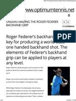 Roger Federer's Backhand Grip