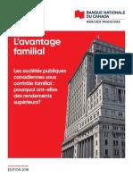 Etude Avantage Familial Banque Nationale 2018