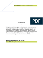 Tema 04 Comportamiento de Grupo. Comunicación