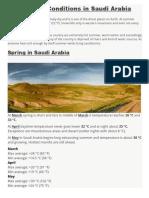 Weather Conditions in Saudi Arabia