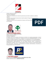 Lista de Candidatos Pga 2018