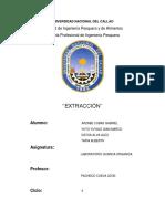 Extracción - Laboratorio N°5