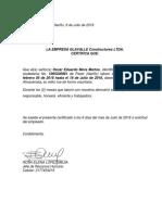 Certificado Laboral