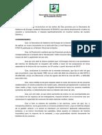Proyecto de Resolución - Rechazo Resolución 20-2018 Por Parte de La Secretaria de Gobierno de Energía de La Nación
