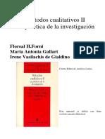 Gallart La integración de Métodos... En Forni, Gallart, Vasilachis de Gialdino - Métodos cualitativos II.pdf