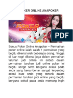 Bonus Poker Online Anapoker