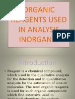 Organic Reagents Used in Analysis Inorganic