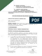 Auto orden de detención preliminar - KFH