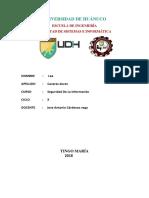 7,8.- Seguridad de Infraestructura y Redes. Ciberseguridad