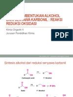 Reaksi pembentukan alkohol dari senyawa karbonil.pptx