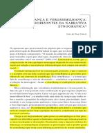 CABRAL, João de Pina - Semelhança e verossimilhança. horizontes da narrativa