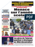 Journa Le Soir DAlgrie Du Judi 11 Octobre 2018