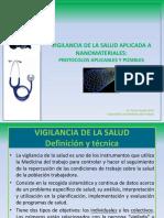 Vigilancia de La Salud Aplicada a Nanomateriales. Protocolos Aplicables y Posibles.
