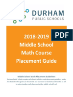2018-2019 middle school math placement guide
