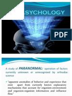 PARASYCHOLOGY