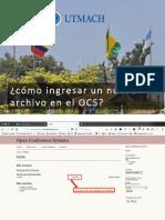 ¿Como Enviar Un Nuevo Documento en El OCS?