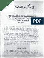 """Kantor%2C+Tadeusz.+""""El+teatro+de+la+muerte"""".+Edición+Raúl+Osorio.+Revista+Apuntes+N°+95+pp.106-117."""