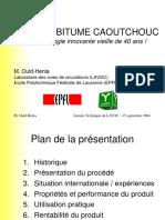 Liants Au Bitume Caoutchouc