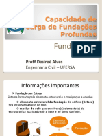 Aula 10 - Capacidade de Carga de Fundações Profundas