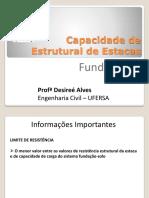 Aula 11- Capacidade de carga de fundações profundas - Capacidade Estrutural de Estacas.pdf