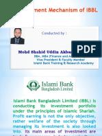 Inv. Mechanism By Islami Bank Bangladesh ltd
