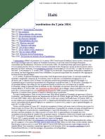 Haïti, Constitution de 1806 Révisée en 1816, Digithèque MJP