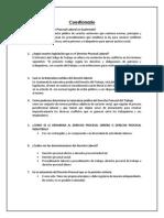 Cuestionario Grupos Procesal Laboral