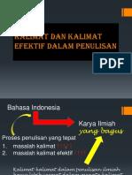 Kalimat Dan Kalimat Efektif Dalam Penulisan - 2013